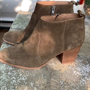 Madewell suede booties